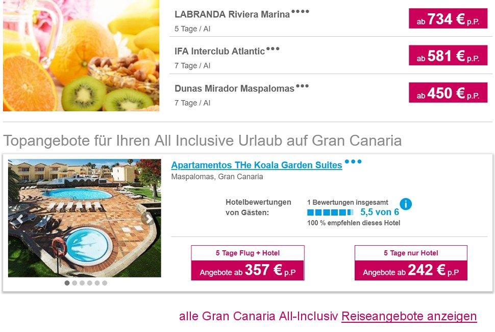 Flug Und Hotel Spanien Billig